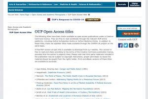 牛津大學出版社開放取用資源